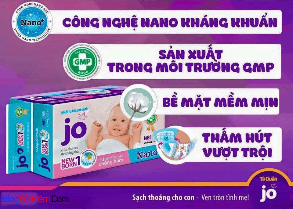 Miếng lót sơ sinh Jo